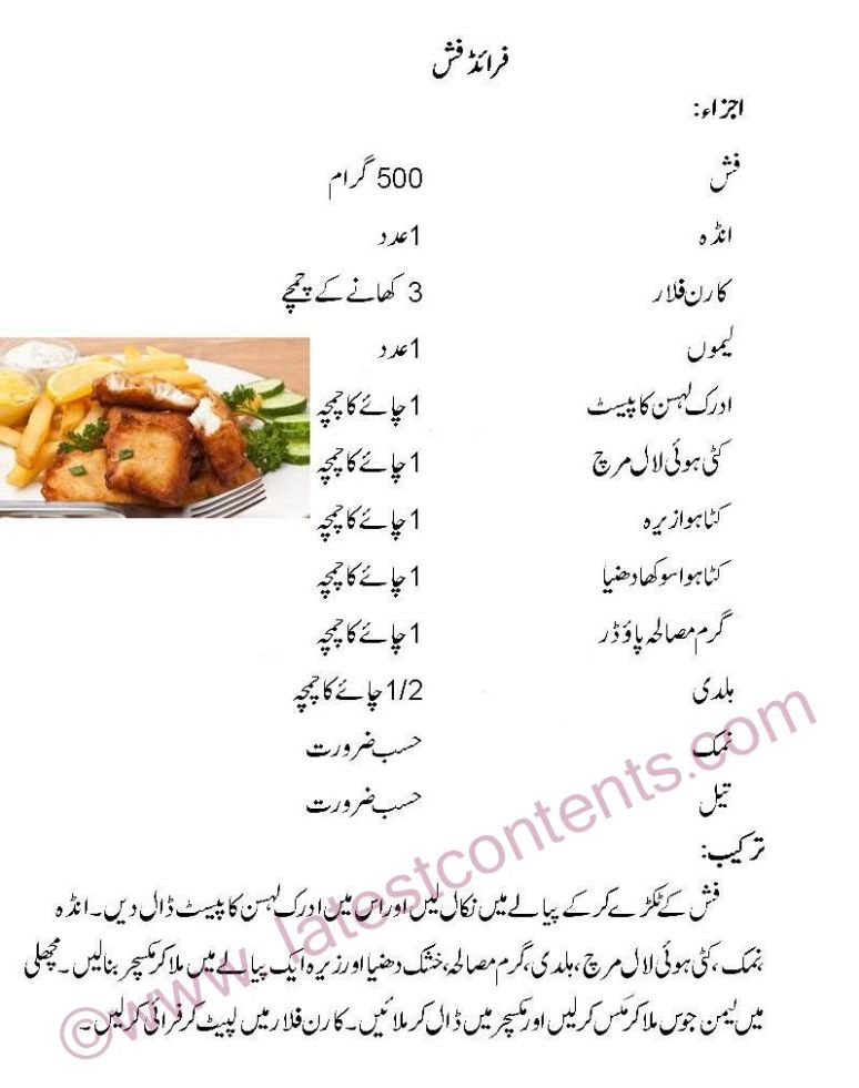 فرائی فِشLahori Fried Fish Recipe in Urdu - Urdu Essay Recipes