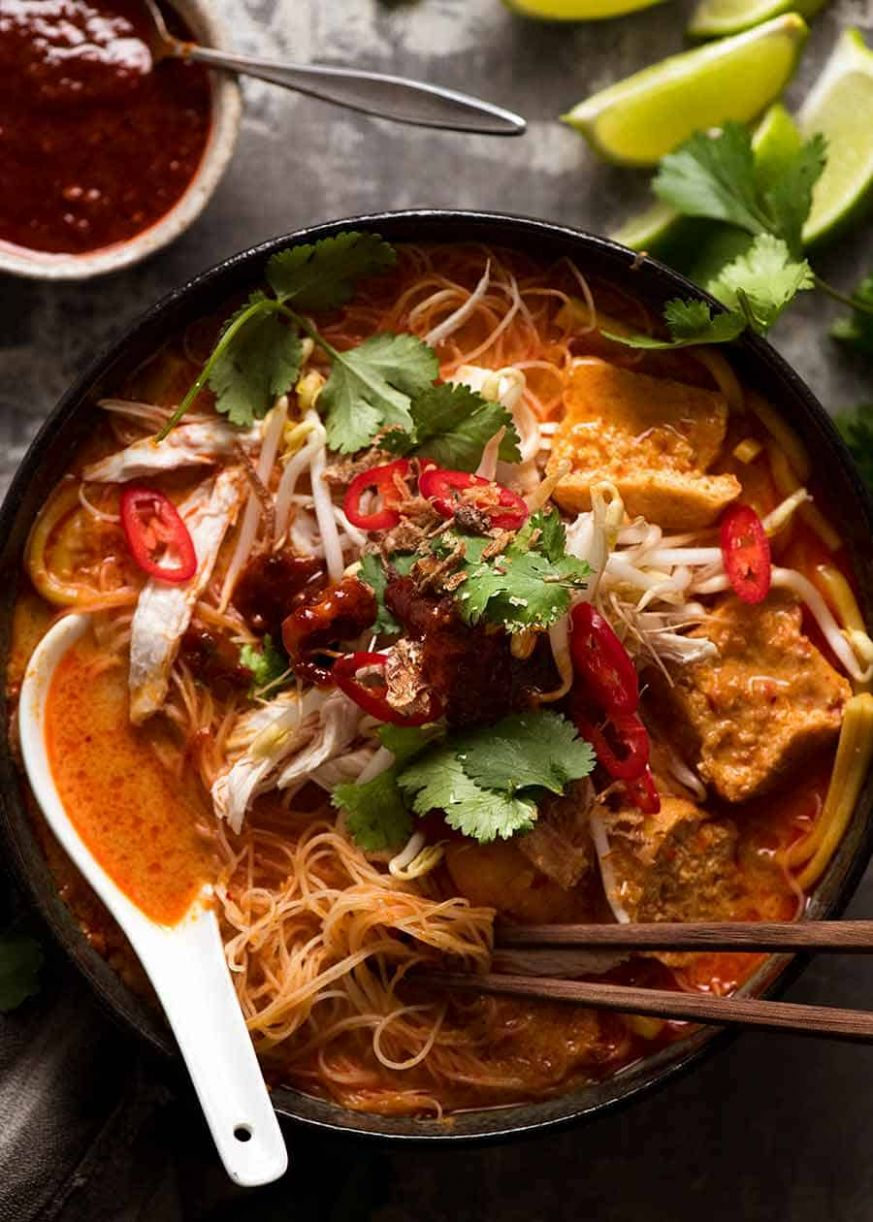 Laksa Noodle Soup - Recipe Fish Laksa