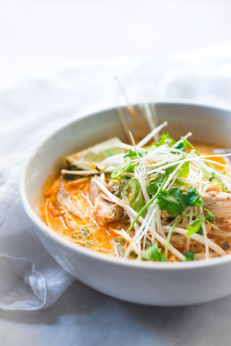 Laksa Soup - A Malaysian Coconut Curry Soup - Recipe Fish Laksa
