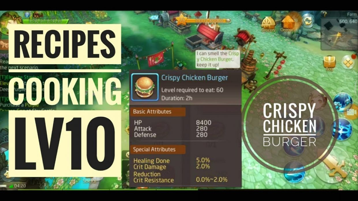 LAPLACE M - CHICKEN BURGER + RECIPES COOKING LV10 - Cooking Recipes Laplace M
