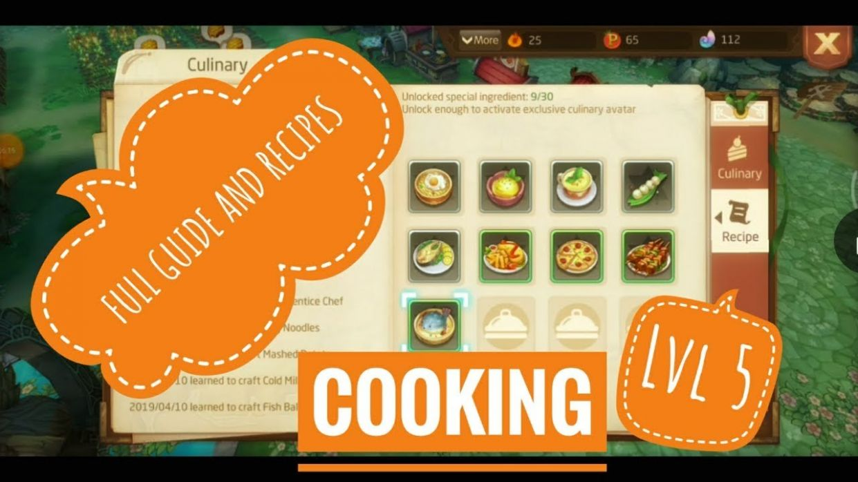 Laplace M - Lv10 Full Guide Cooking Cuisines + Recipes!!!