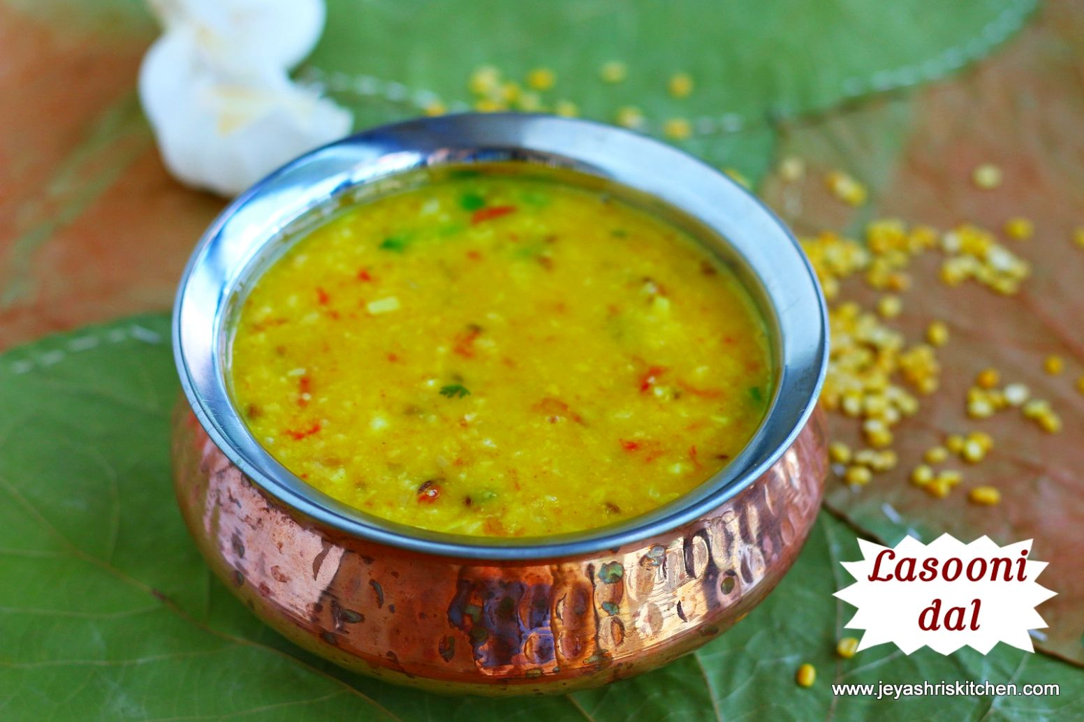 Lasooni dal tadka recipe, Garlic dal recipe by Jeyashri's Kitchen