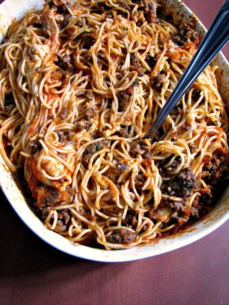 Leftover Spaghetti Casserole - Recipes Leftover Pasta