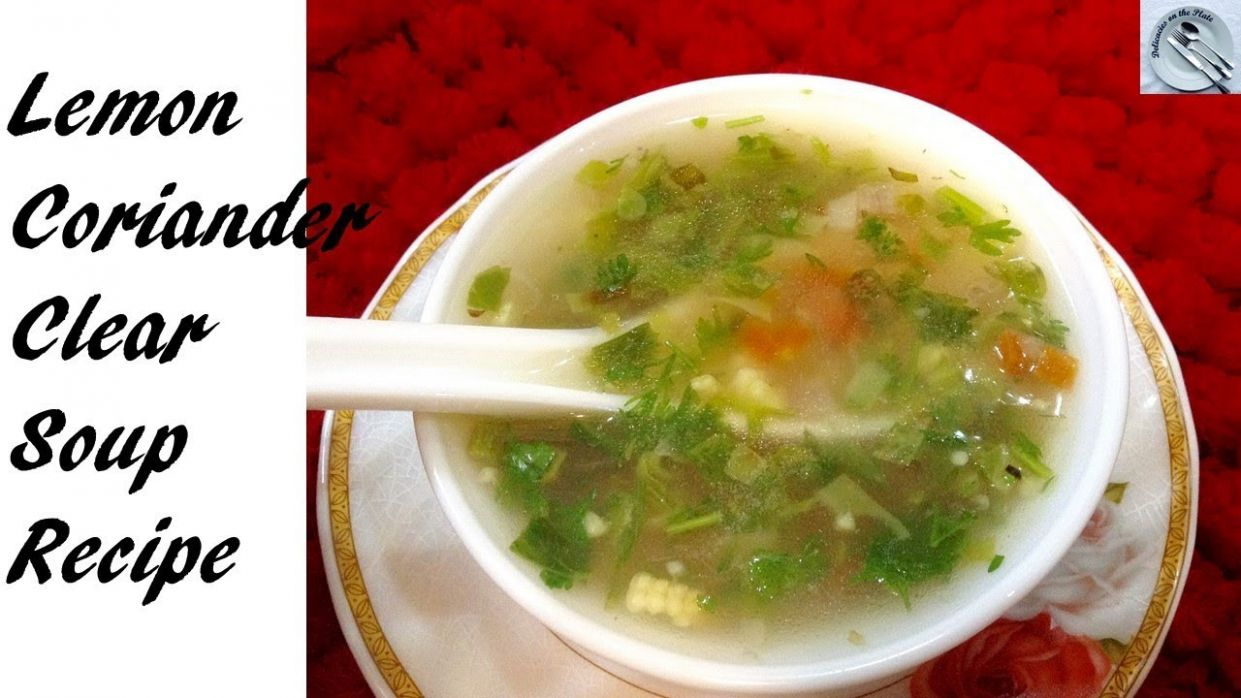 lemon coriander clear soup recipe - in hindi - DOTP - EP (8) - Soup Recipes Hindi