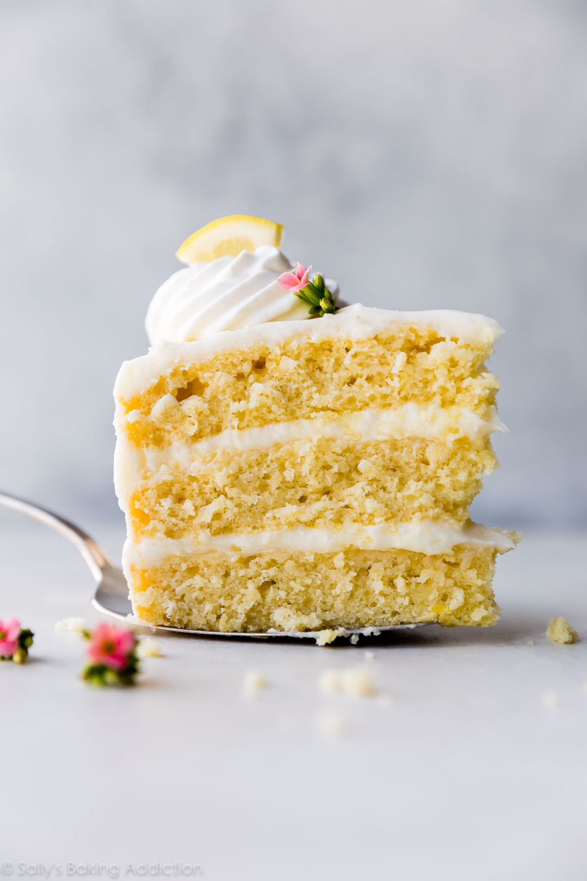 Lemon Layer Cake with Lemon Cream Cheese Buttercream - Recipes Lemon Cake