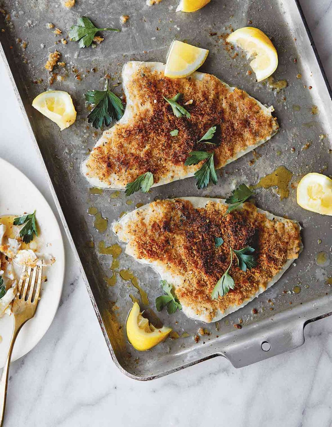 Lemon Sole Oreganata