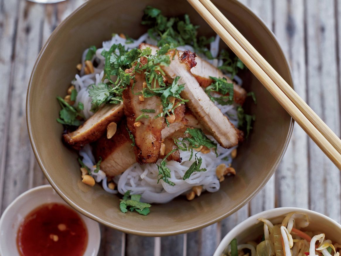 Lemongrass-Barbecued Pork with Rice-Vermicelli Salad - Recipe Pork Vermicelli