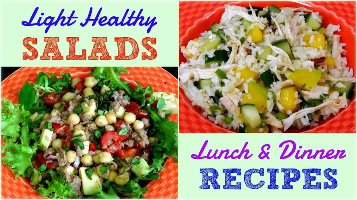 Light Healthy Salads for Lunch & Dinner (Weight Loss Recipes) - Salad Recipes For Weight Loss Youtube
