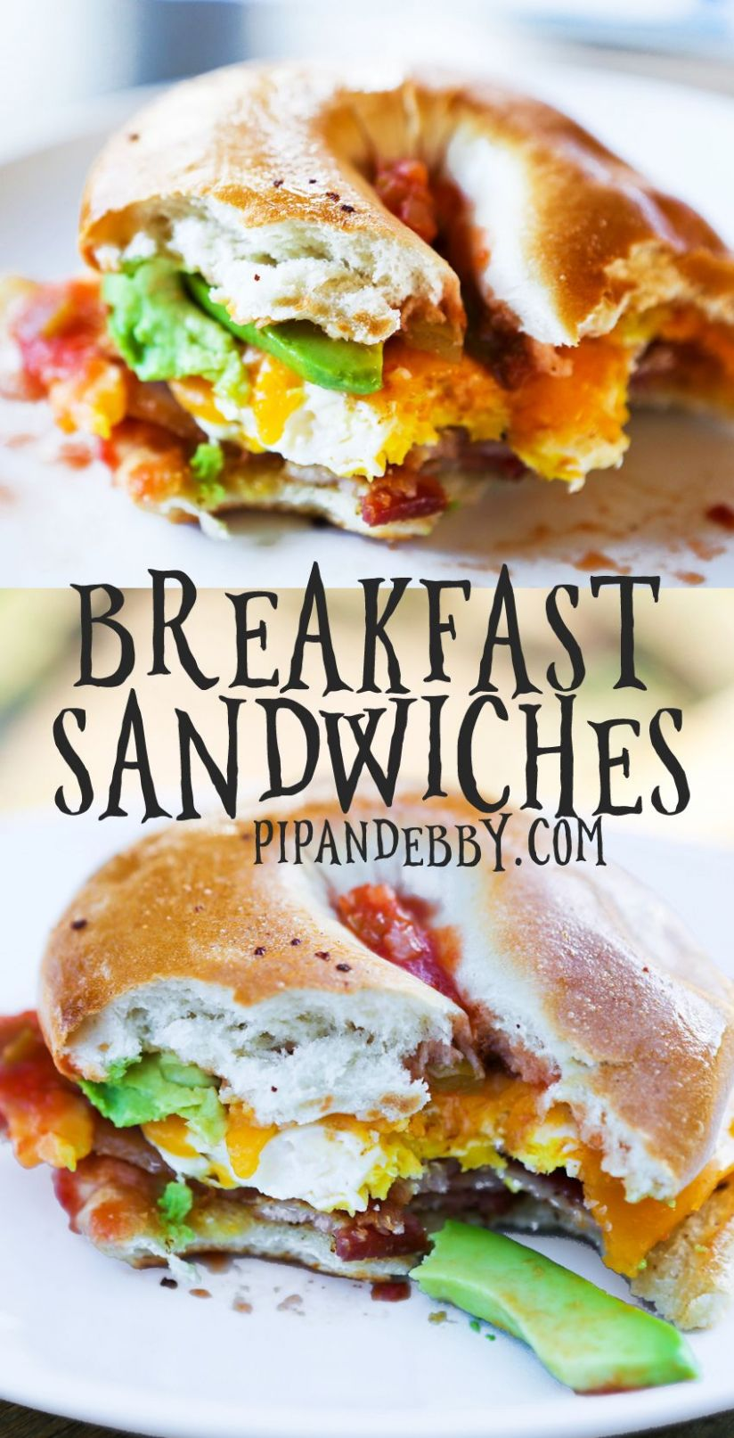 Loaded Bagel Breakfast Sandwiches - Breakfast Recipes Using Bagels