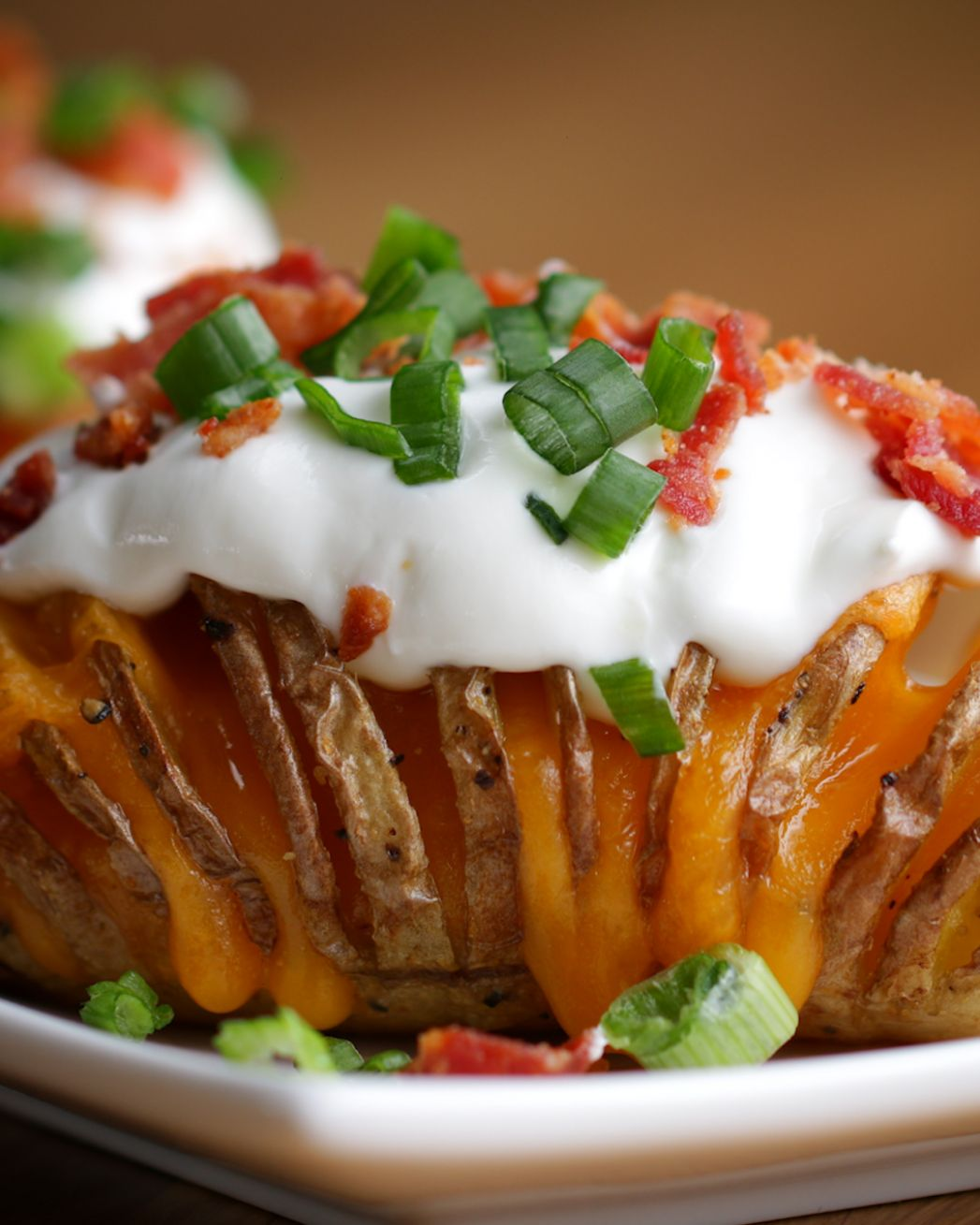 Loaded Hasselback Potatoes - Potato Recipes Tasty