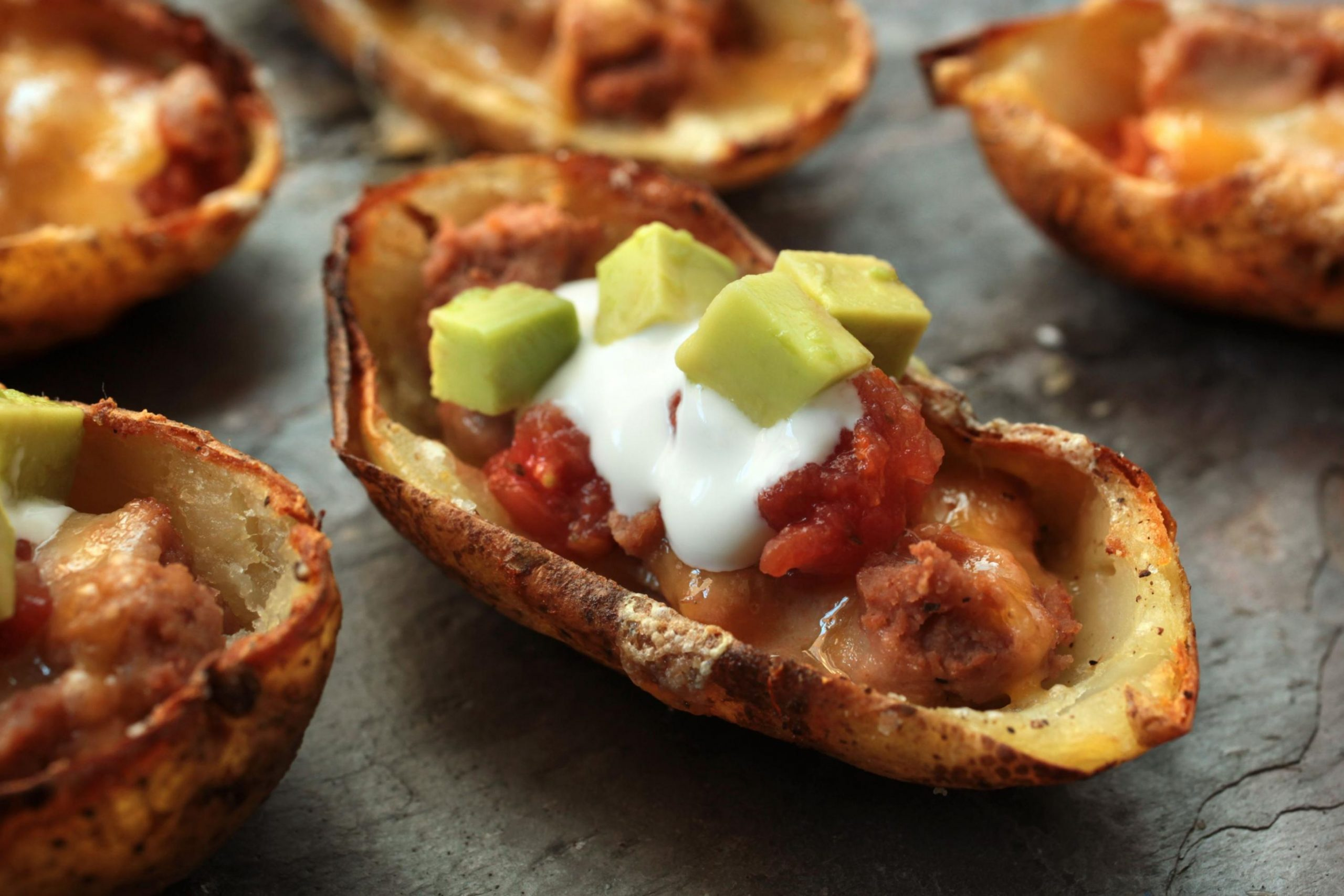 Loaded Nachos Potato Skins