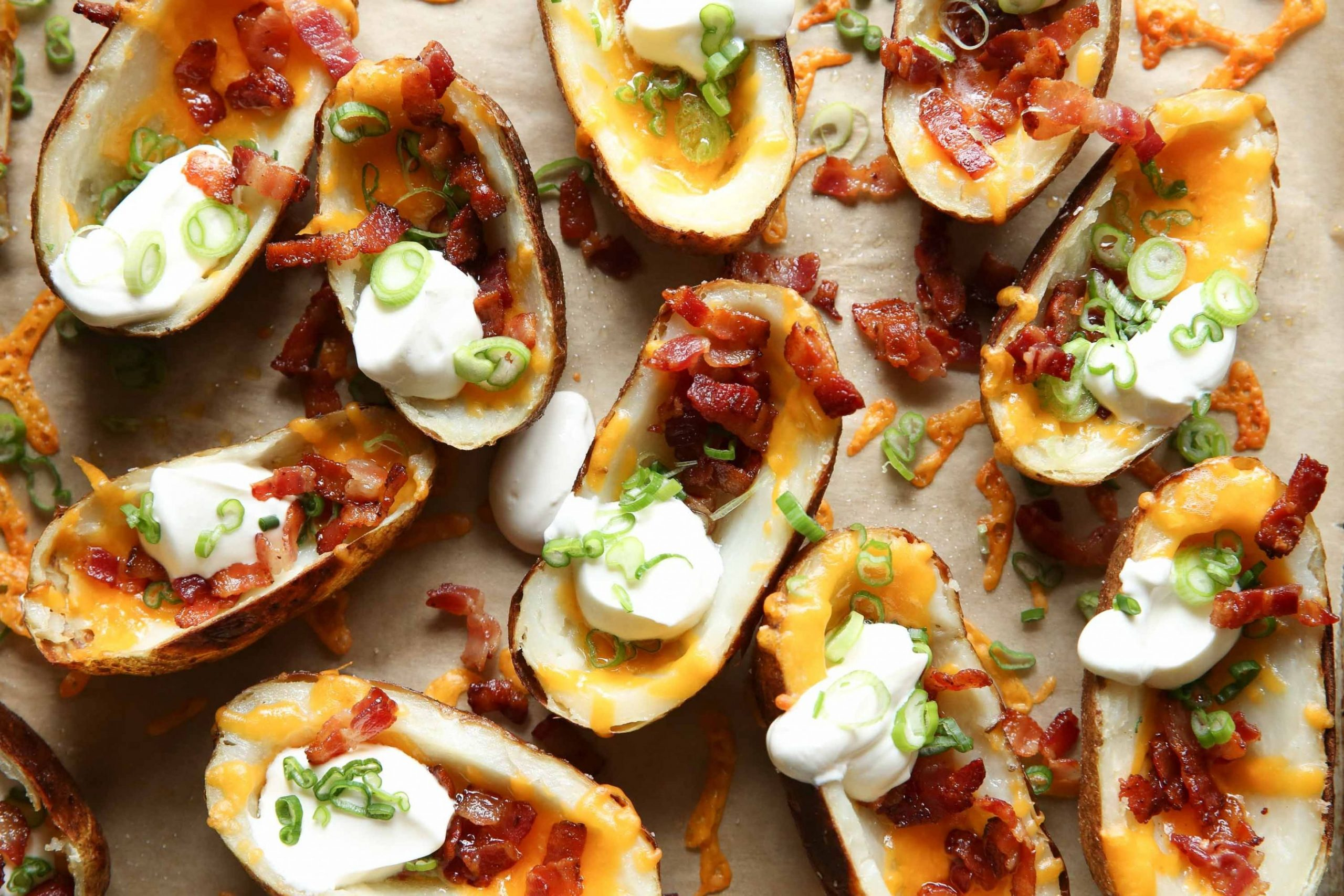 Loaded Potato Skins - Recipes Potato Skins