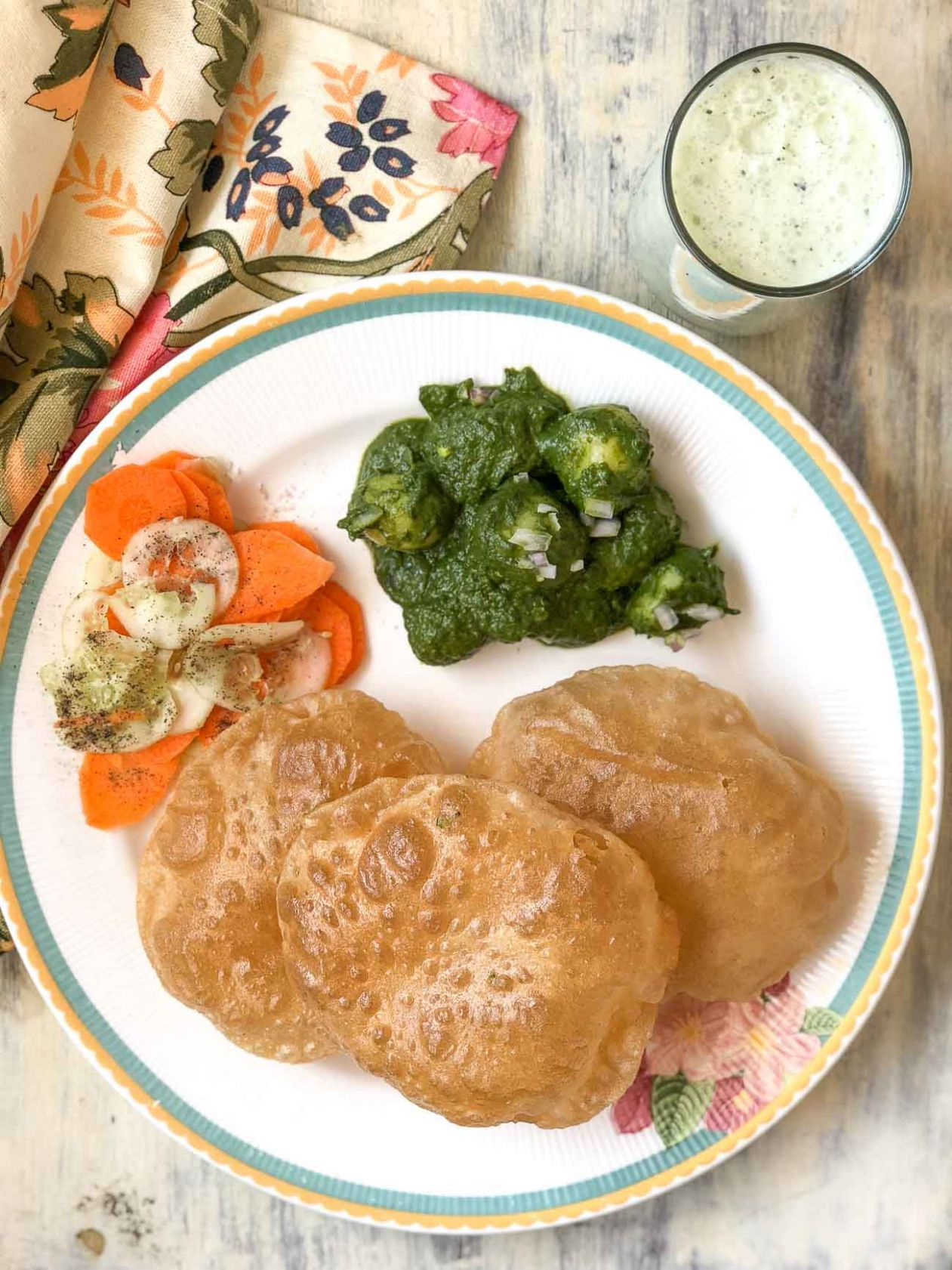 Looking To Make A North Indian Dinner? Try The Hariyali Aloo, Puri ...