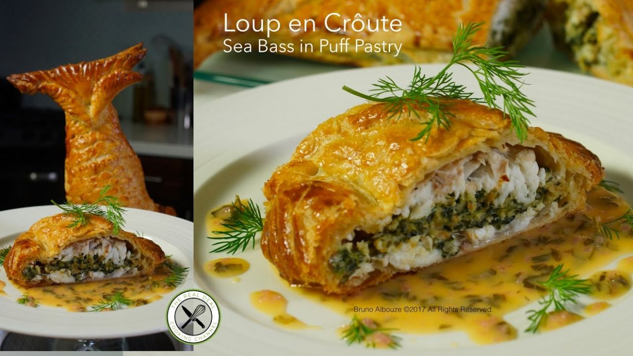 Loup en Croûte / Sea Bass in Puff Pastry – Bruno Albouze – THE REAL DEAL