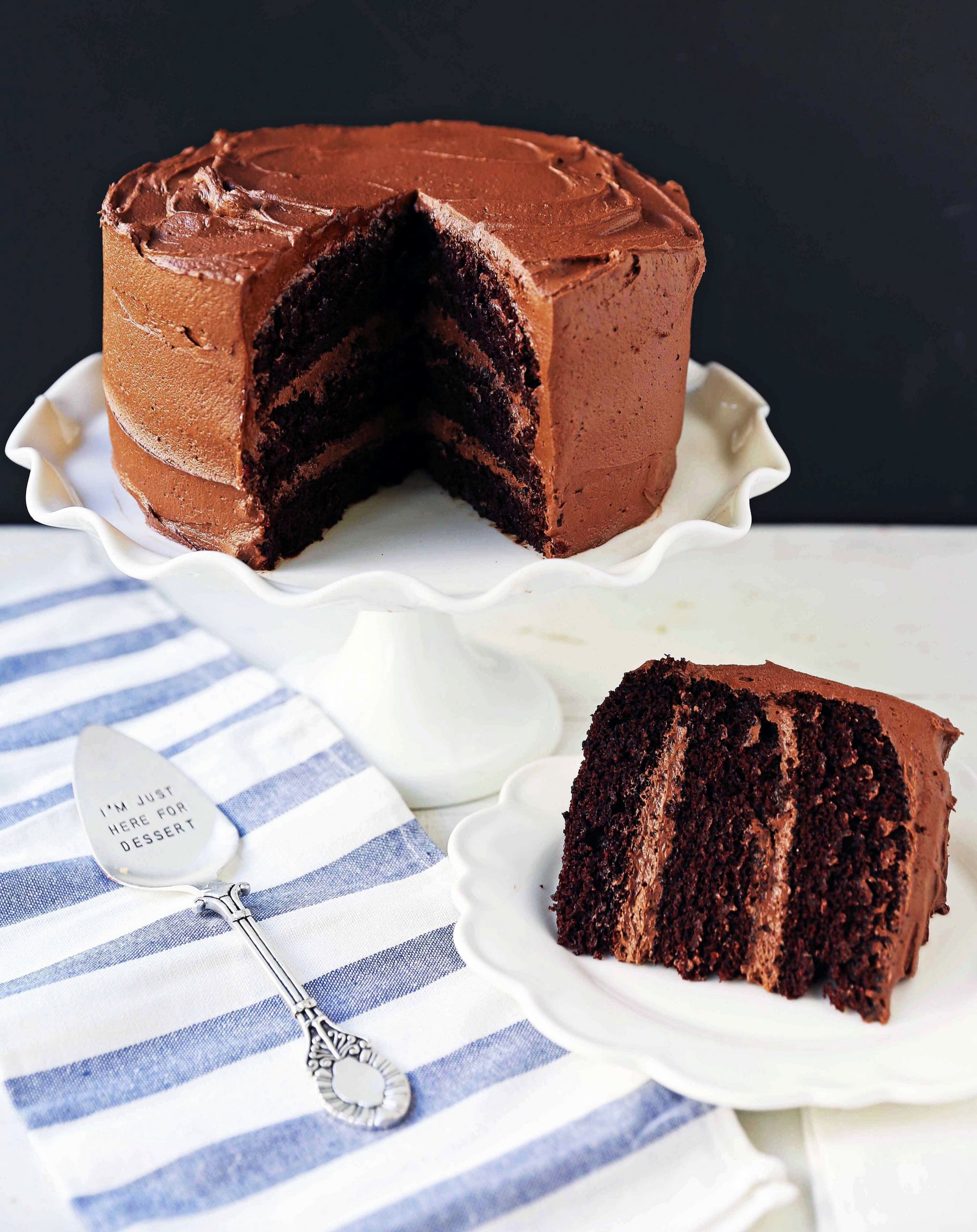 Love at First Sight Chocolate Cake - Recipe Rich Chocolate Cake