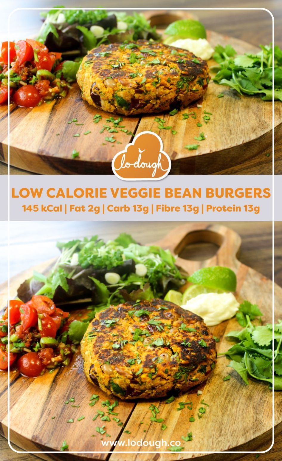 Low Calorie Veggie Bean Burgers - Recipes Vegetarian Low Calorie