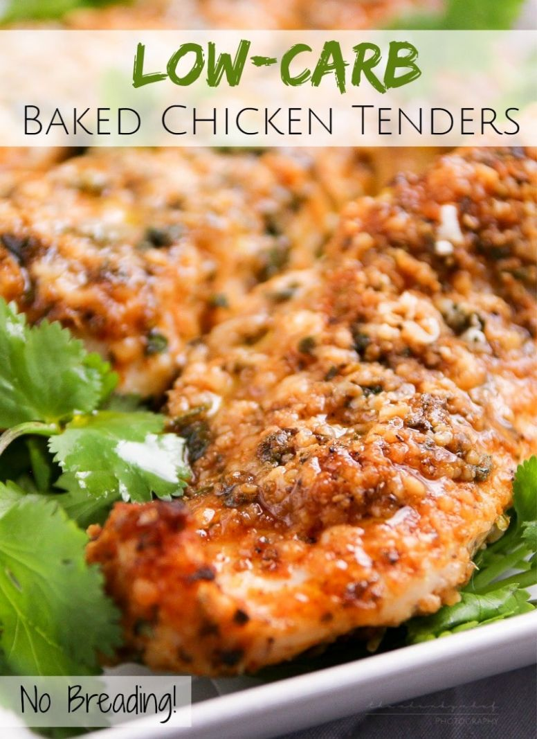 Low-Carb Baked Chicken Tenders - The Chunky Chef