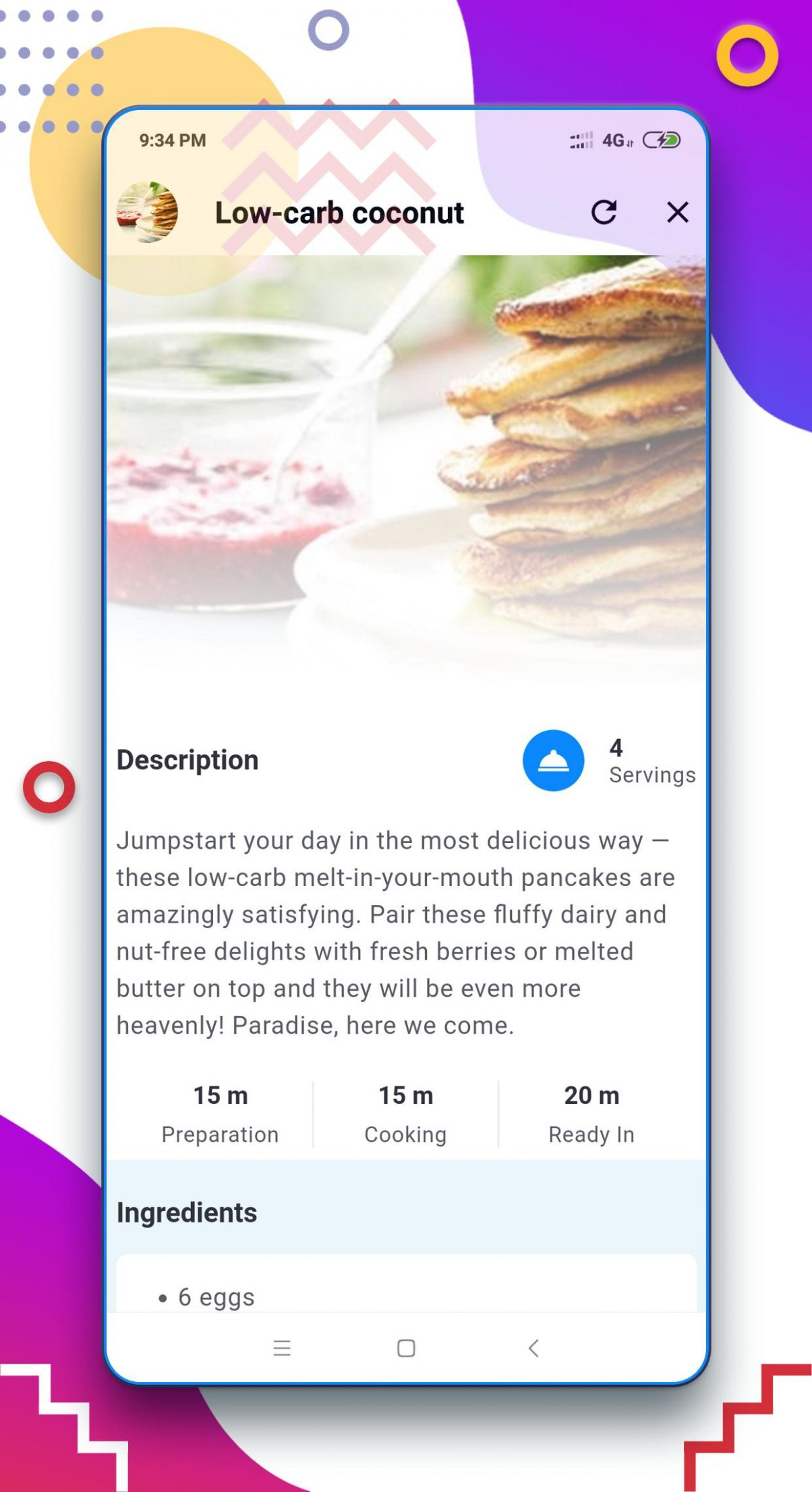 Low Carb Breakfast Recipes App for Android - APK Download - Breakfast Recipes App