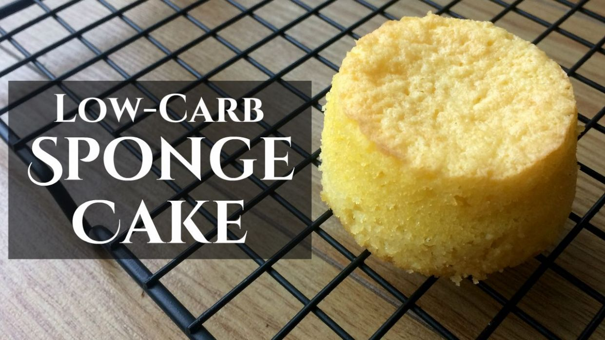 Low-Carb Genoise Sponge Cake - almond/other nut flour, psyllium ..