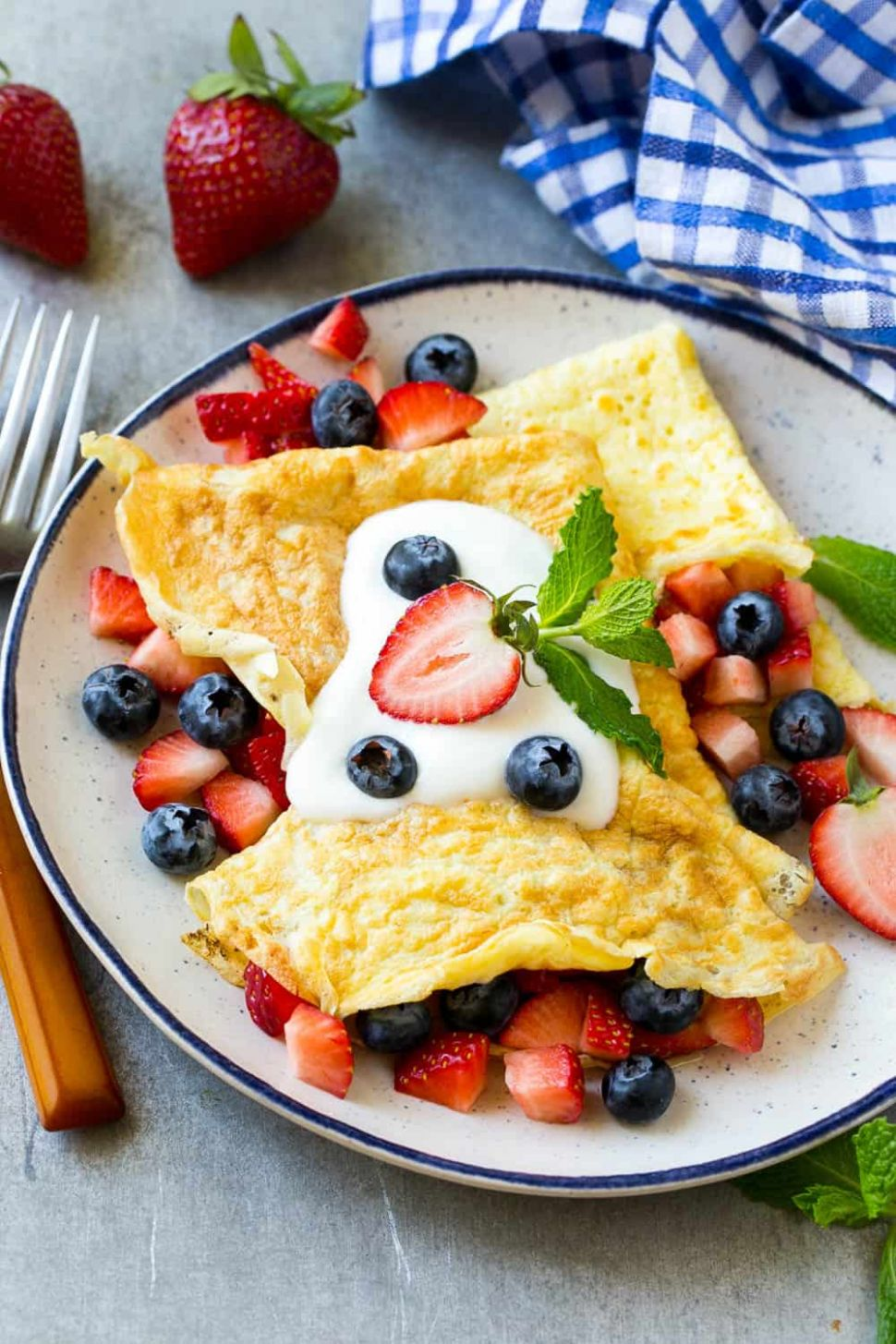 Low Carb Protein Breakfast Crepes Recipe | Healthy Fitness Meals - Breakfast Recipes Rich In Protein