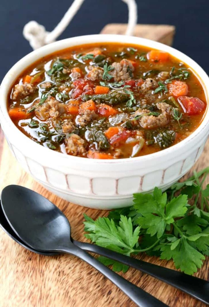 Low Carb Sausage Vegetable Soup - Soup Recipes Low Carb