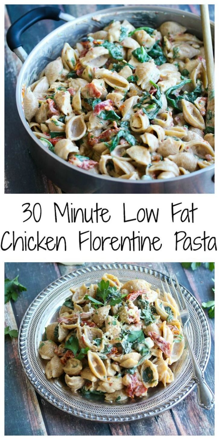 Low Fat Chicken Florentine Pasta - Pasta Recipes Low Fat