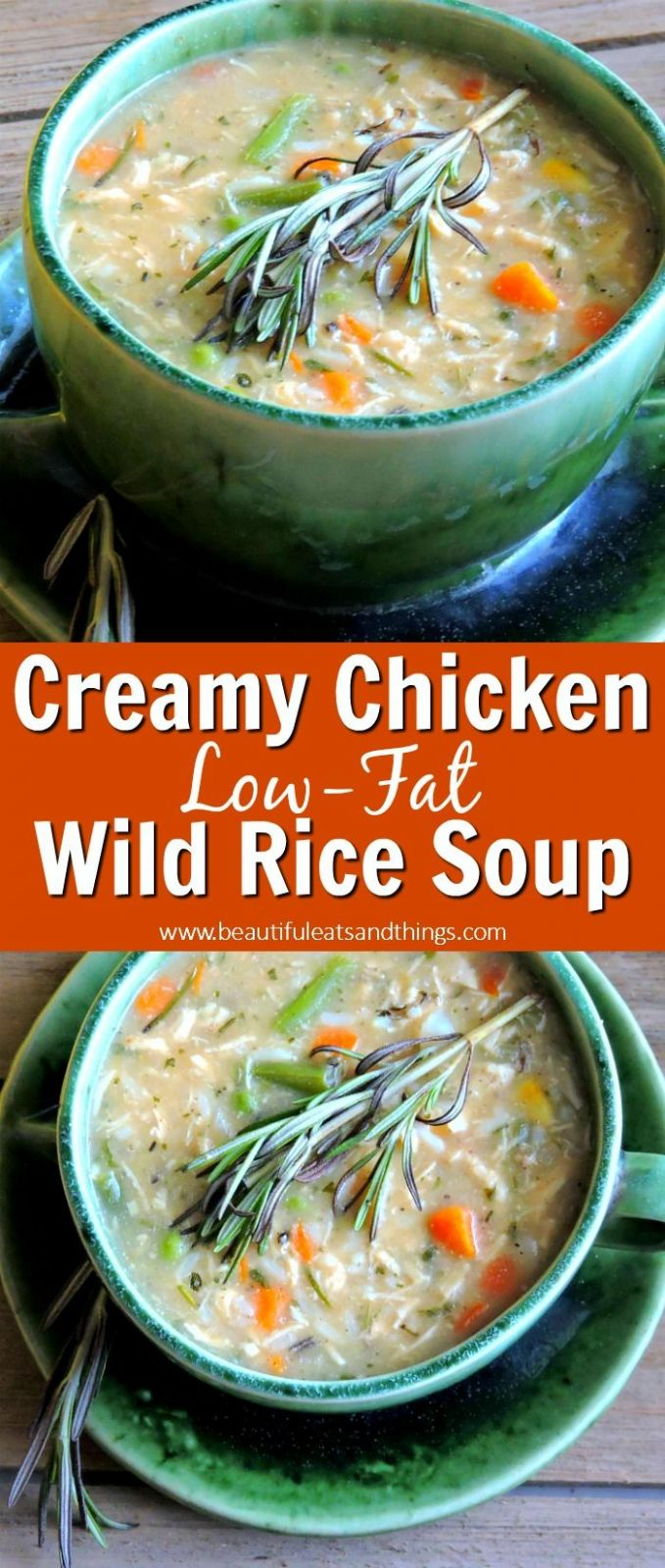 Low-Fat Creamy Chicken and Wild Rice Soup - Soup Recipes Low Fat