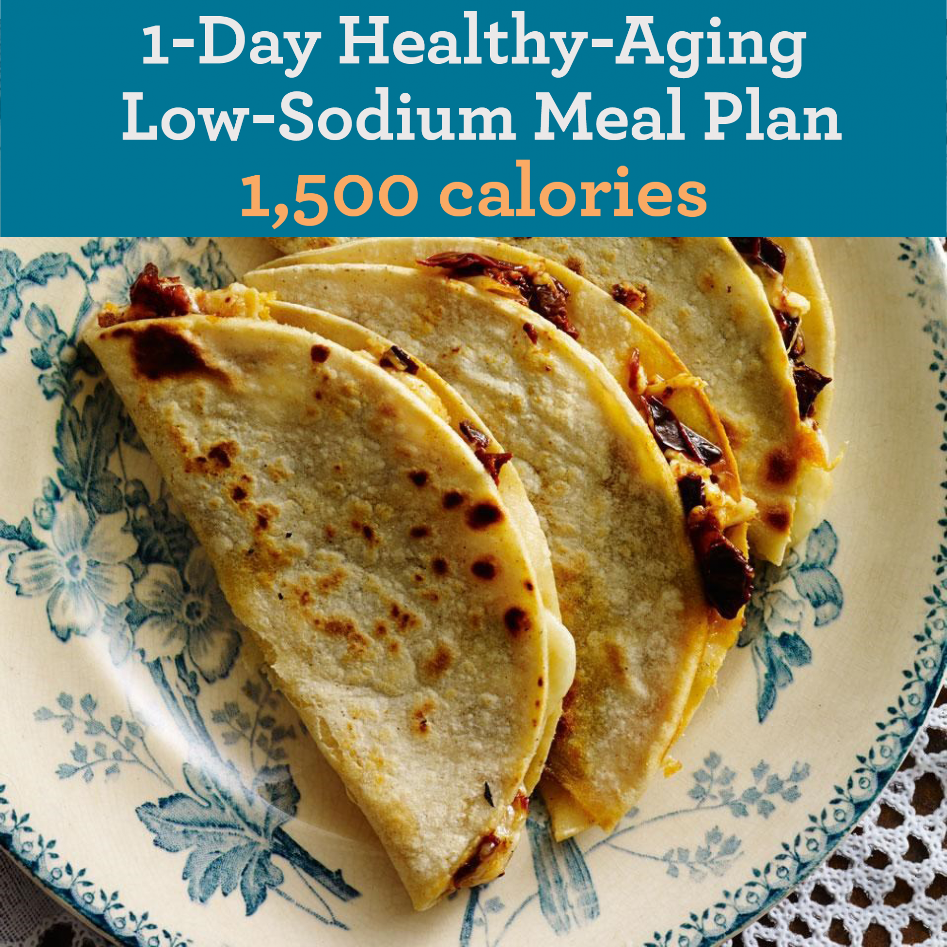 Low-Sodium Healthy-Aging Meal Plan: 12,12 Calories | EatingWell