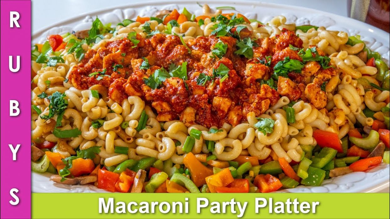 Macaroni Party Pasta Platter Colorful & Tasty Presentable Recipe for any  Dawat in Urdu Hindi - RKK