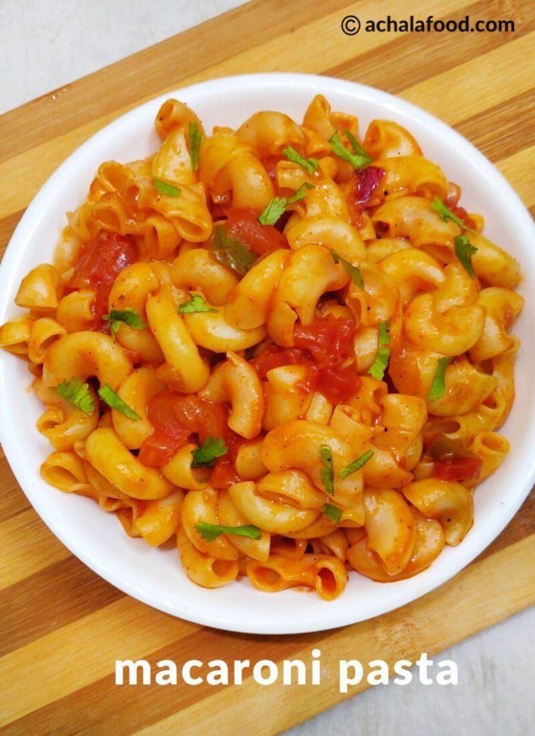 Macaroni pasta indian style - Pasta Recipes Indian Style
