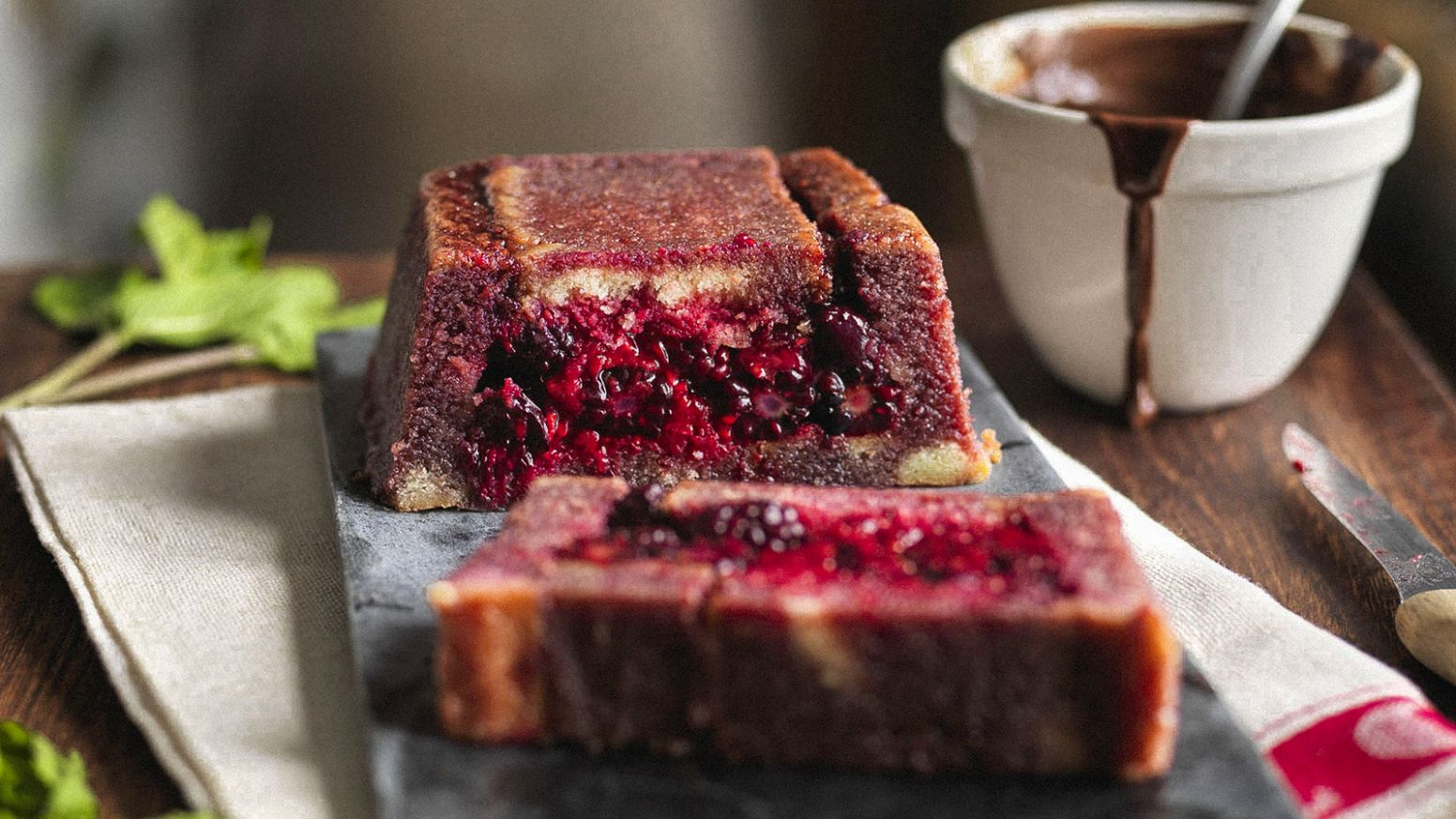 Madeira summer pudding with warm chocolate sauce - Recipes Of Summer Pudding