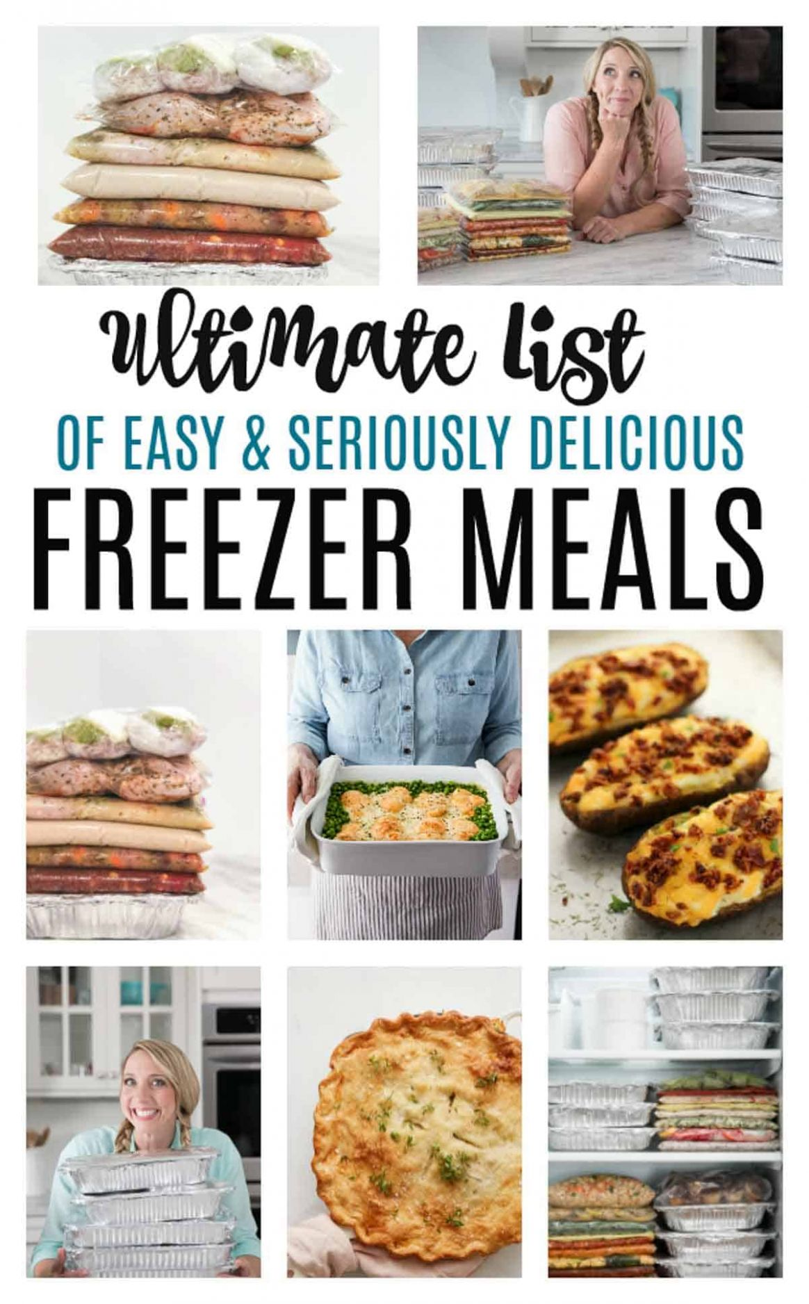 Make Ahead Freezer Meals for a month - Healthy Recipes To Freeze