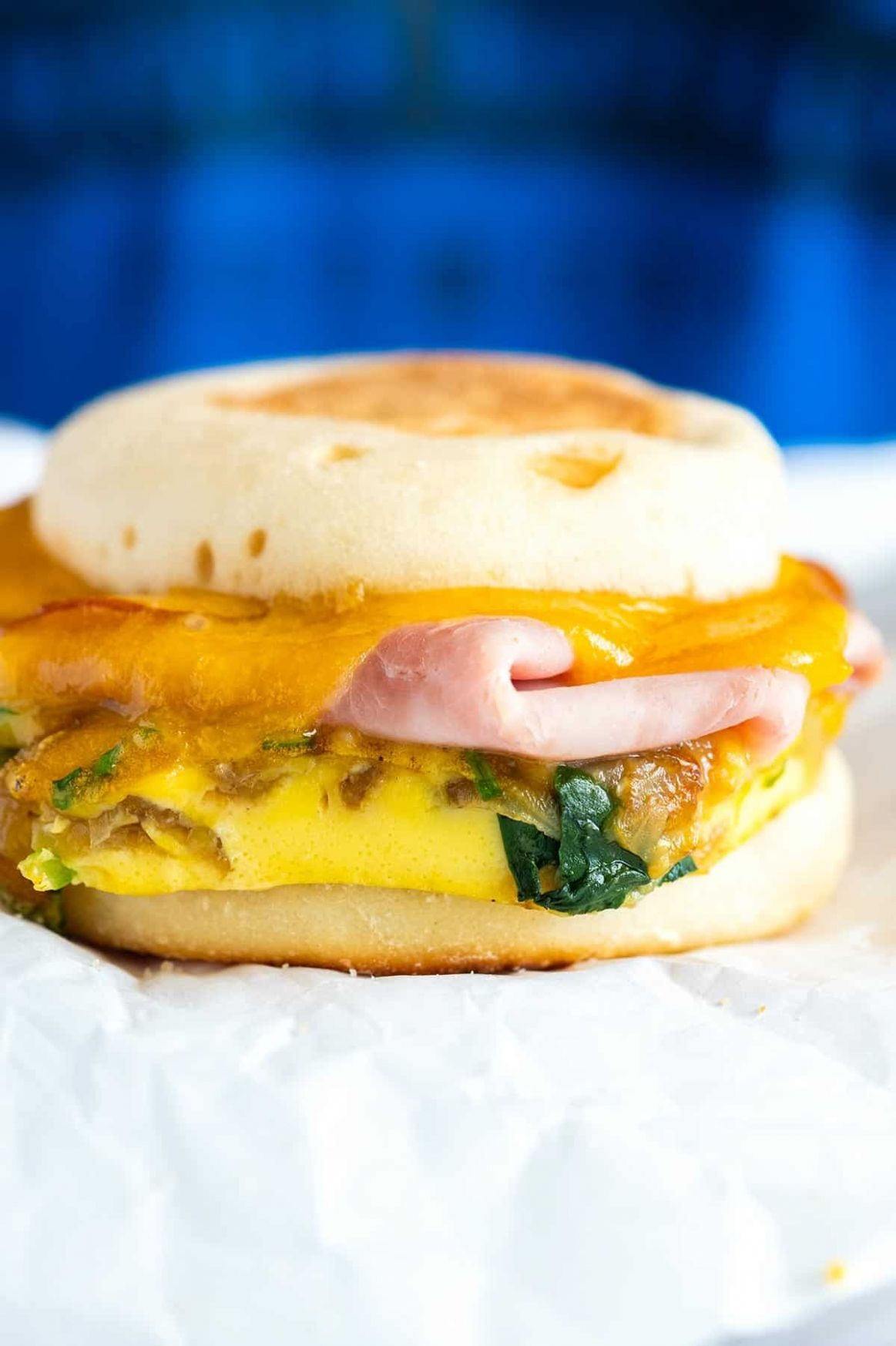 Make Ahead Ham and Veggie Breakfast Sandwiches
