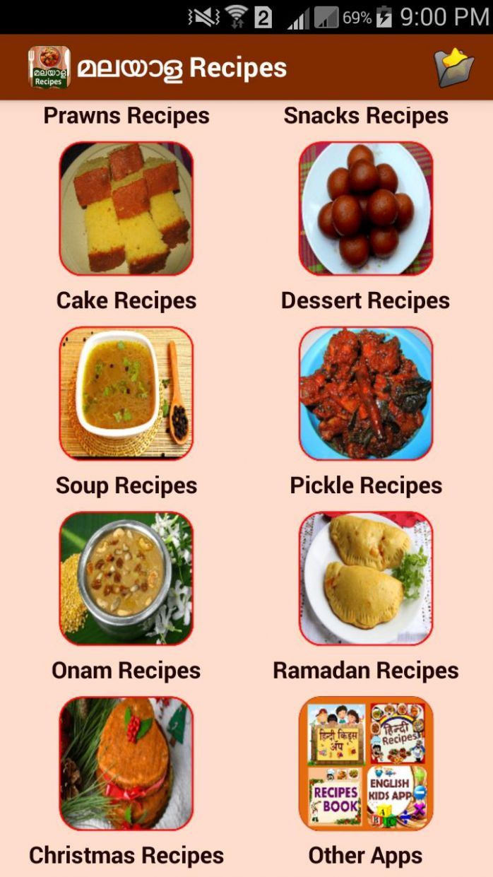 Malayalam Recipes for Android - APK Download - Food Recipes Malayalam
