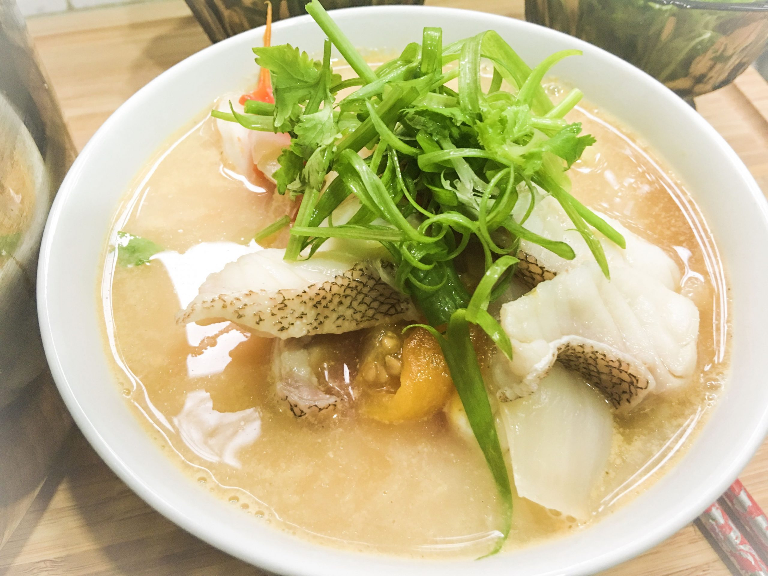 Malaysian Fish Head Soup Recipe with Rice Noodle 马来西亚鱼头米粉 ..
