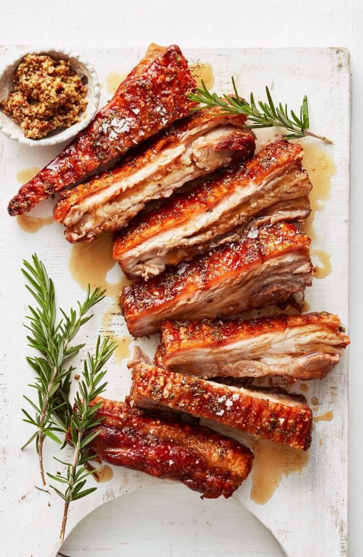 Maple mustard pork belly - Recipes Pork Belly