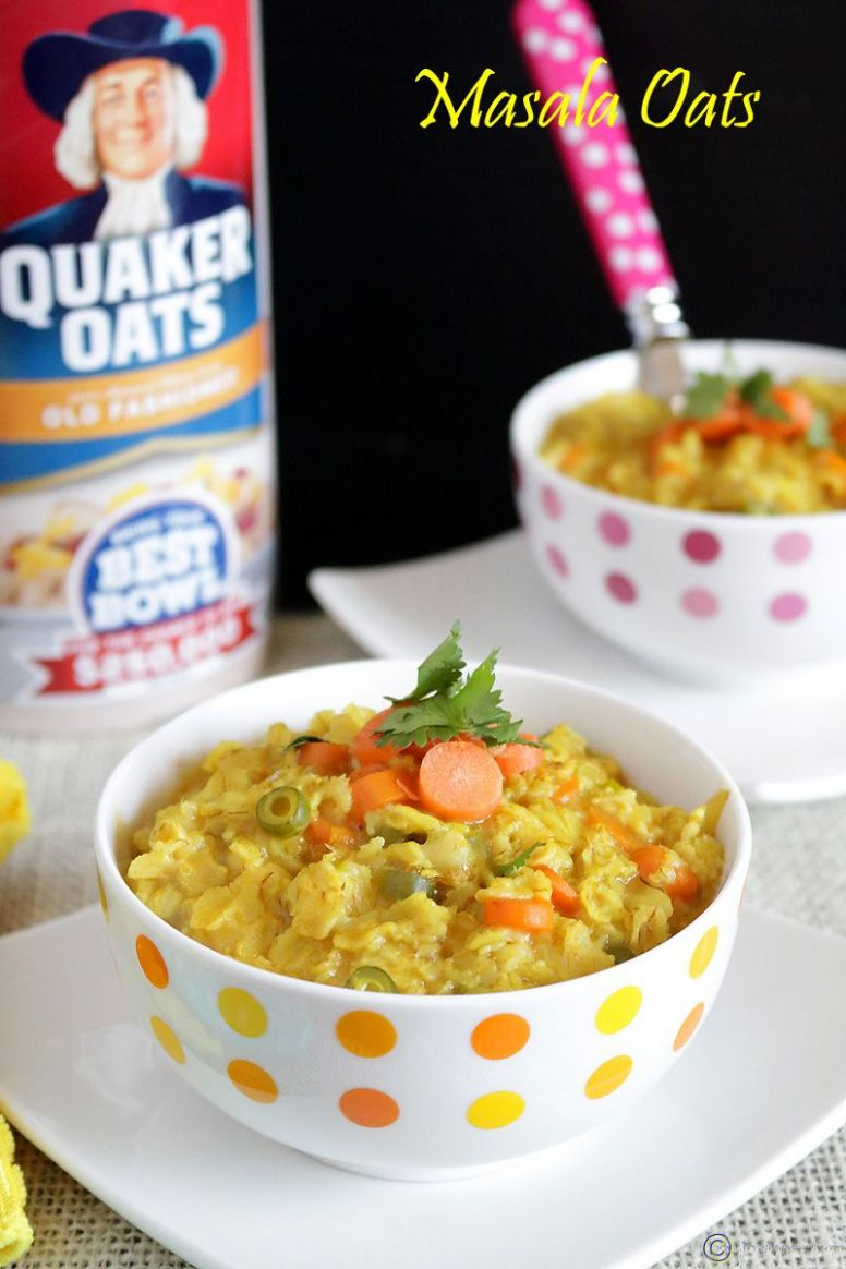 Masala Oats - Breakfast Recipes With Oats