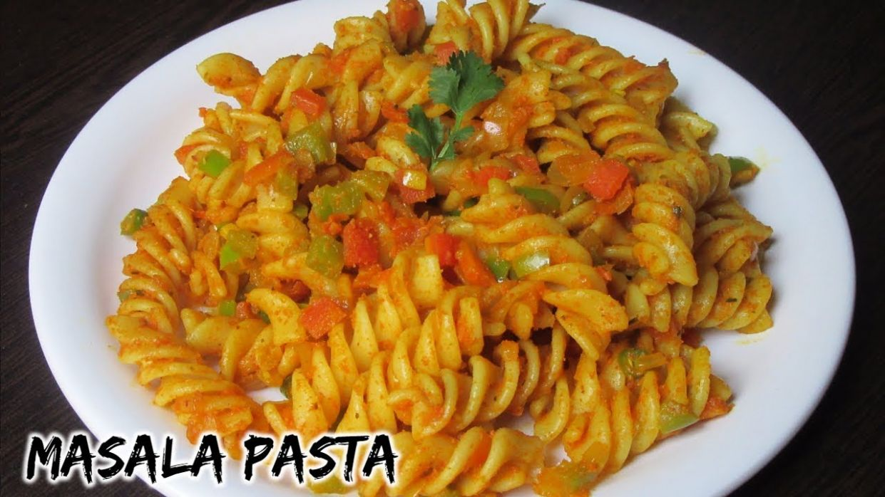 Masala pasta recipe | Indian style Pasta recipe | Spicy masala pasta |  Spiral pasta - Pasta Recipes Indian