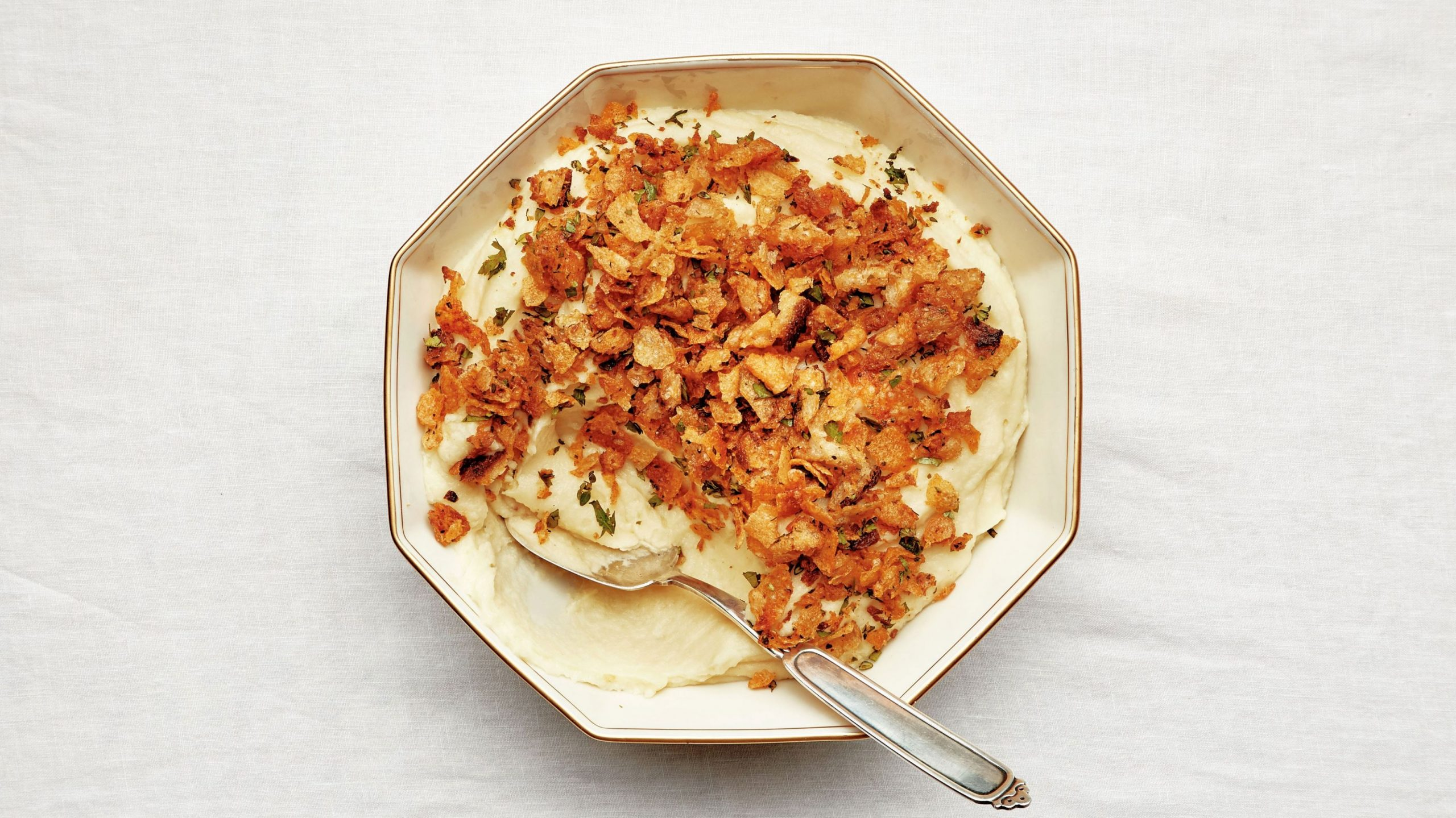 Mashed Potatoes With Crispety Cruncheties