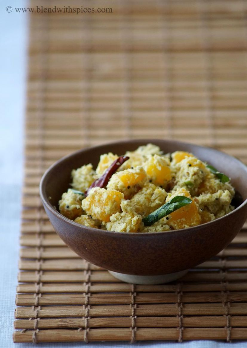 Mathanga Thoran - Pumpkin Thoran Recipe - Vegetable Recipes Kerala