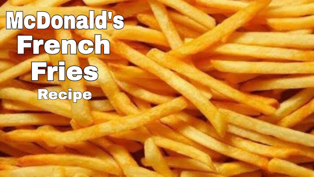 McDonald's French Fries Recipe - How To Make McDonald's French Fries -  Homemade Crispy French Fries