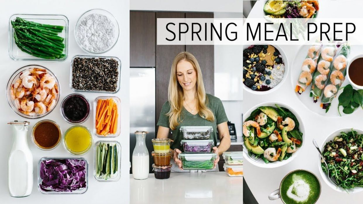 MEAL PREP for SPRING | healthy recipes + PDF guide - YouTube ..
