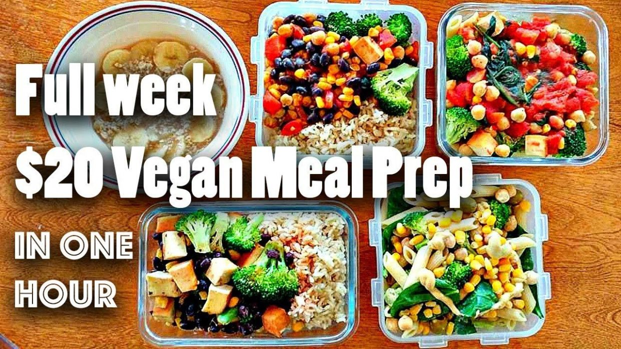 MEAL PREP FOR THE WEEK FOR $11 (VEGAN + EASY) - YouTube | Cheap ...