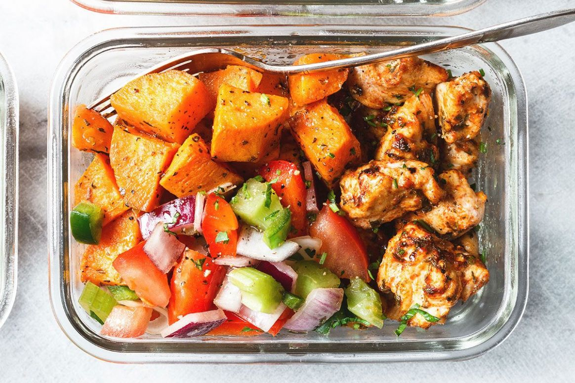 Meal Prep - Roasted Chicken and Sweet Potato - Potato Recipes Lunch