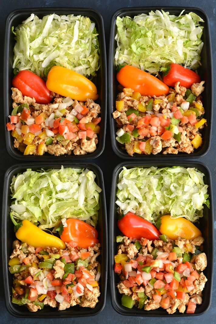 Meal Prep Turkey Taco Bowls - Easy Recipes Low Calorie