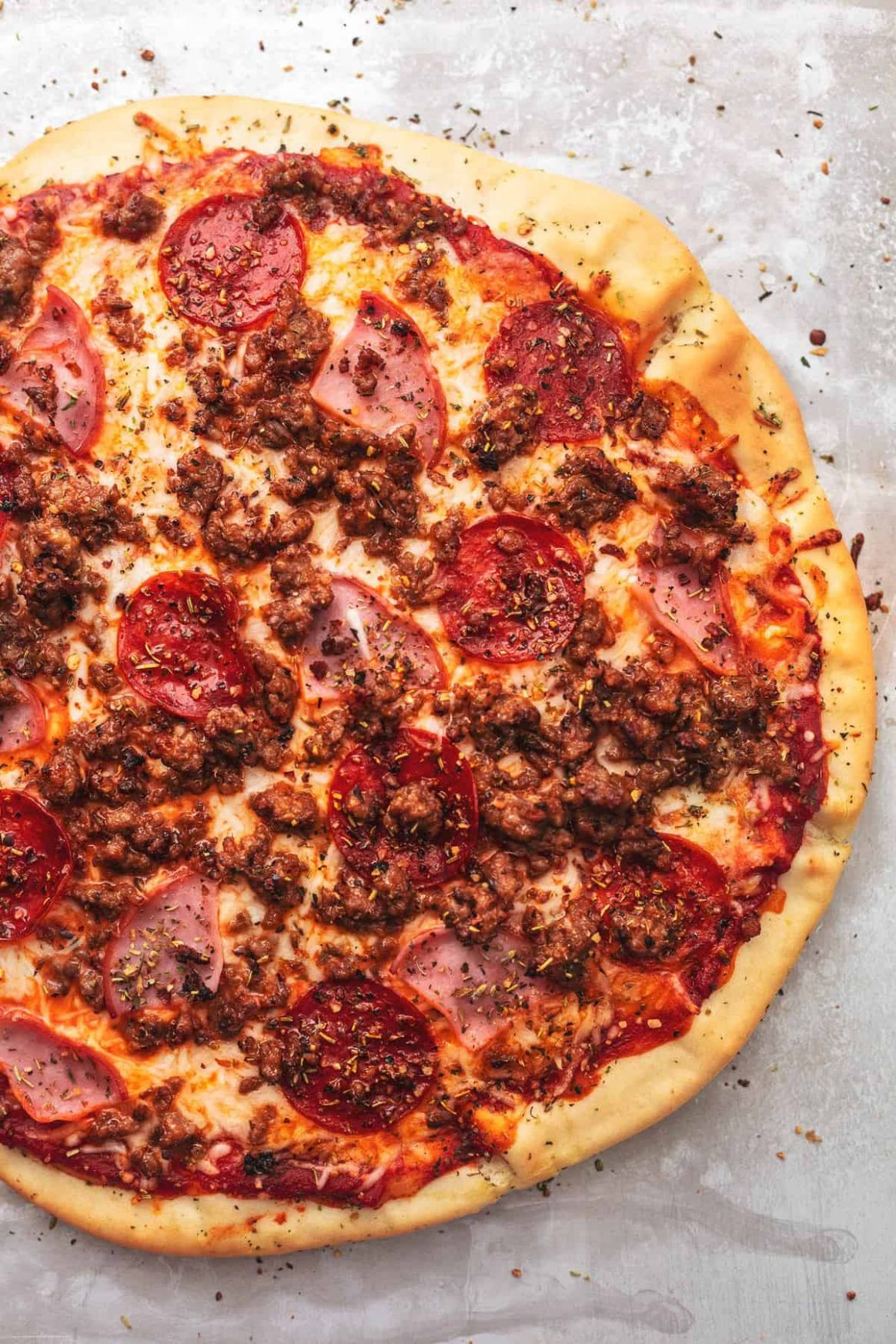 Meat Lovers Pizza | Creme De La Crumb - Pizza Recipes Meat Lovers