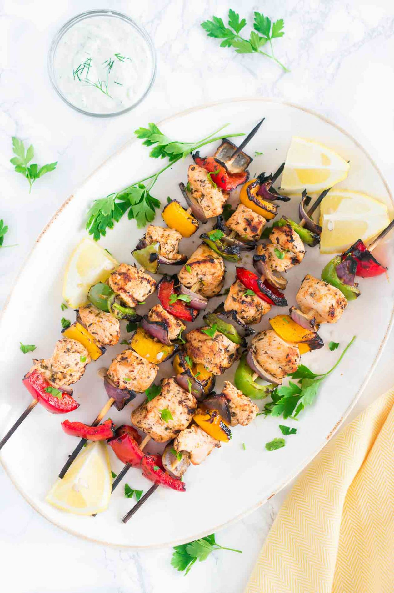 Mediterranean Chicken Kebabs - Recipes Chicken Kebabs