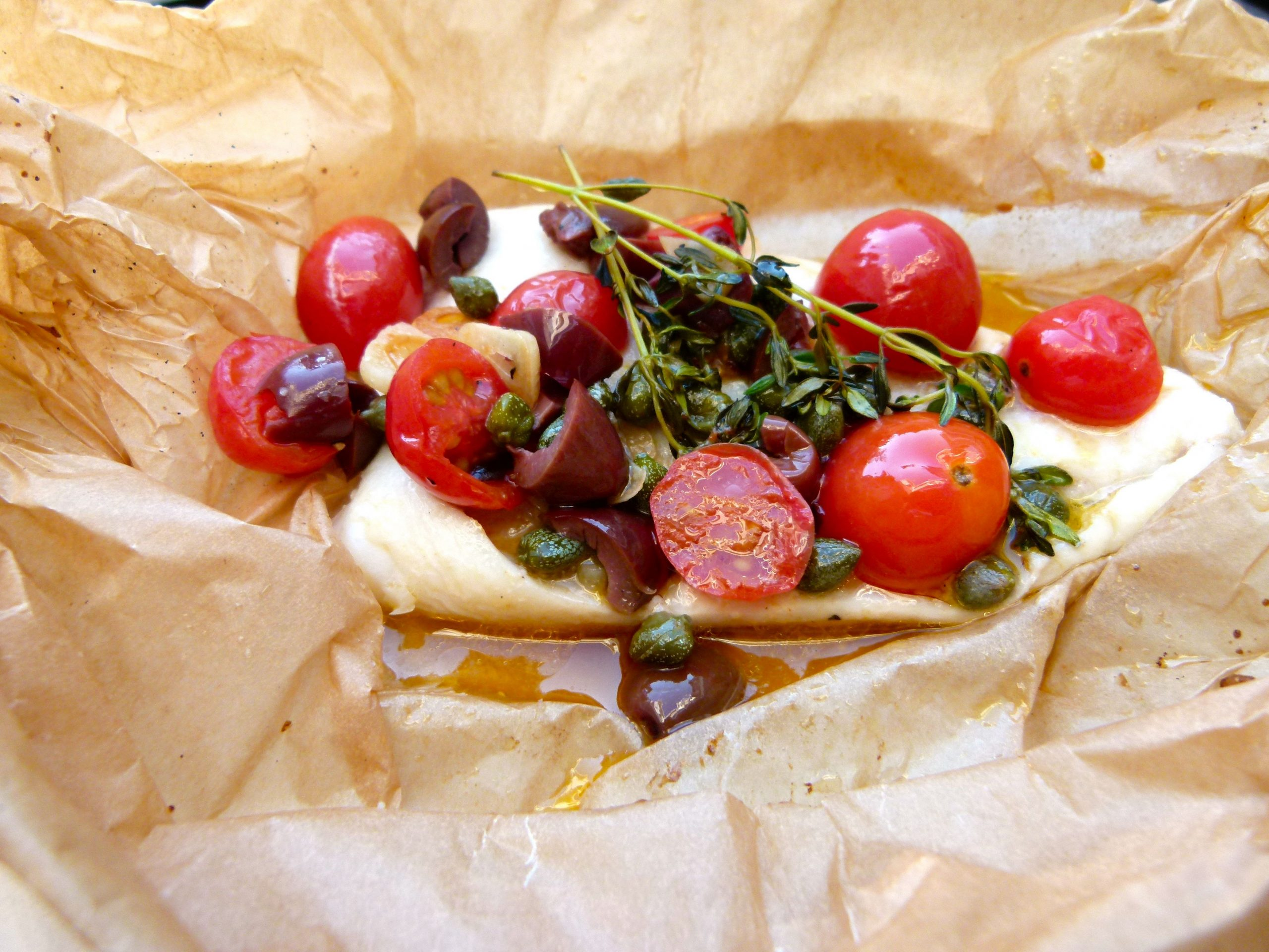 Mediterranean Fish in Parchment recipe