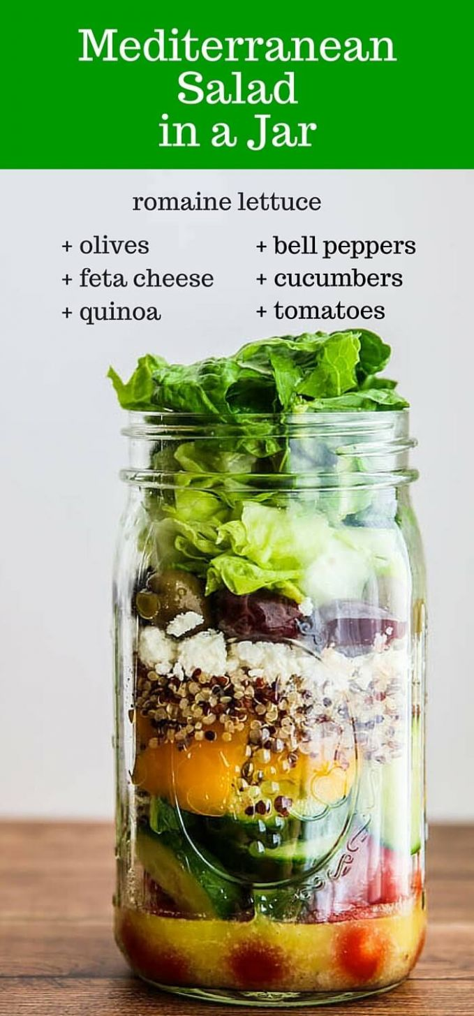 Mediterranean Salad In A Jar Recipe - Recipes Salad In A Jar