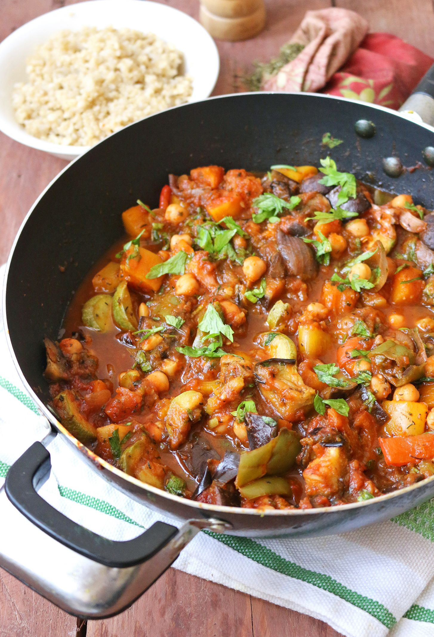 Mediterranean Vegetable and Chickpea Stew - Healthy Recipes Vegetarian Blog
